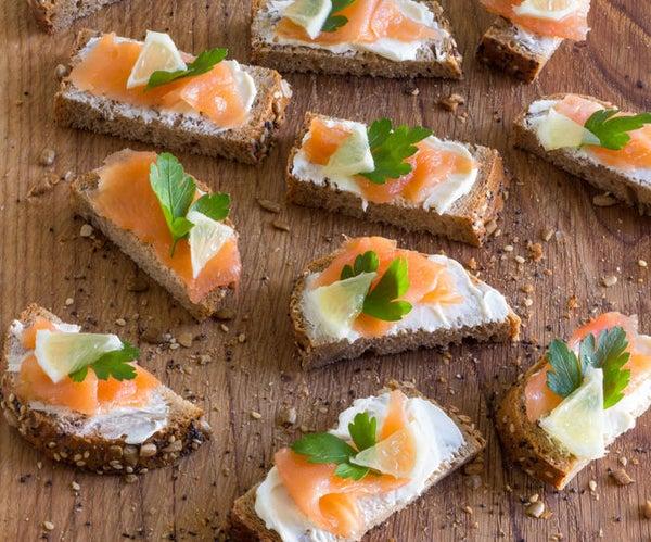 Easy Smoked Salmon Bites