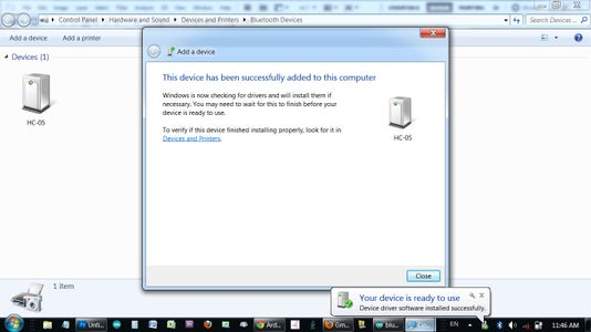Set Up Your PC for Serial Bluetooth Communication