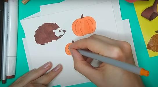 Hedgehog and Pumpkins
