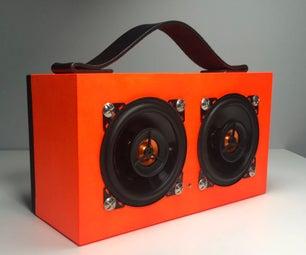 橙色蓝牙扬声器
