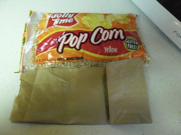Homemade Microwavable Popcorn