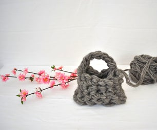 How to Finger Crochet a Purse