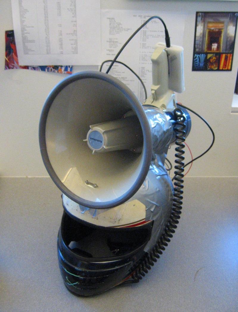 Pimped Out Megaphone Helmet