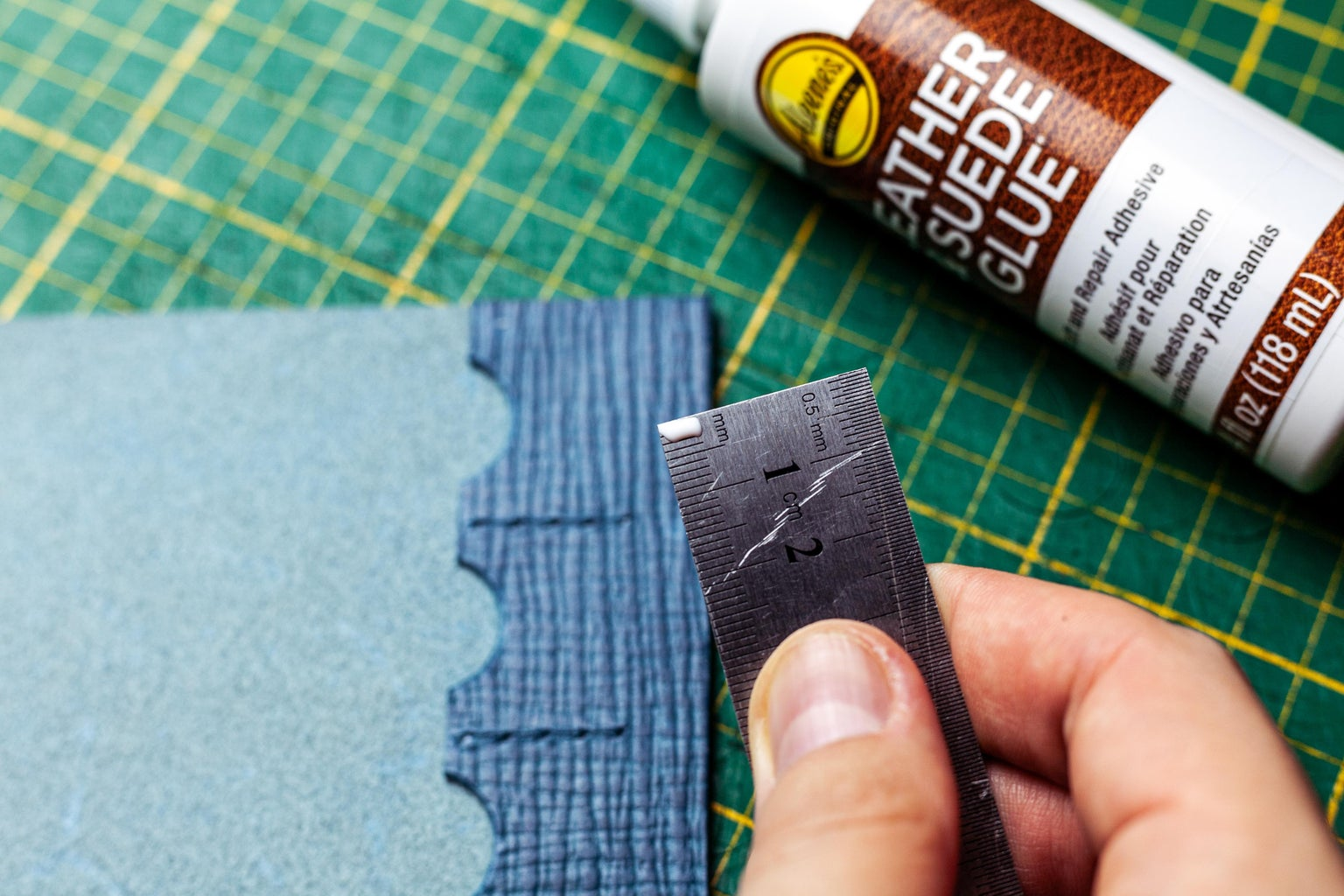 Glue the Leather Pieces Together