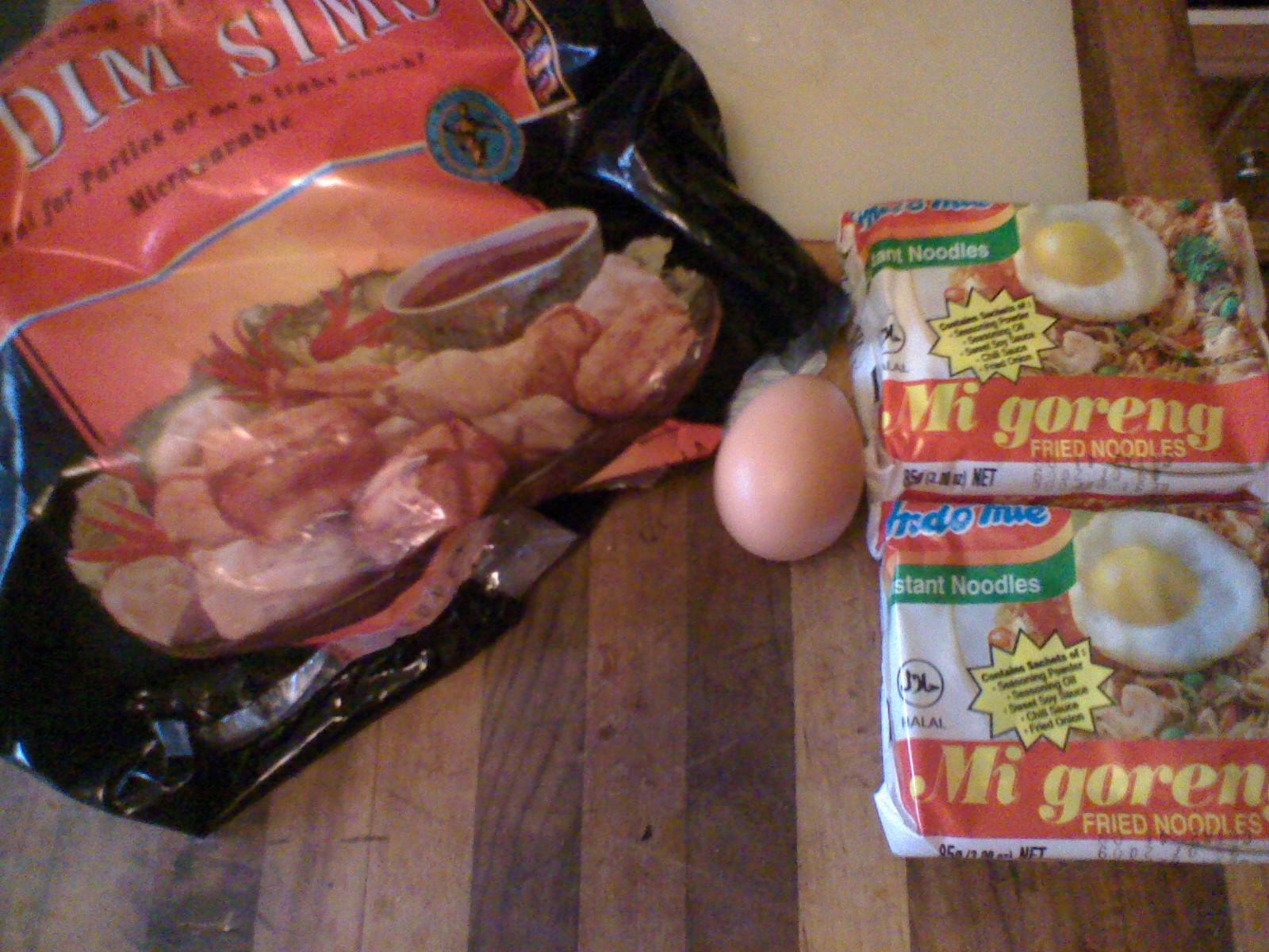 Student Food. super filling microwave stir-fry. $2.20 au