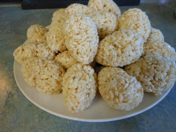 Hollow Crispy Rice Eggs