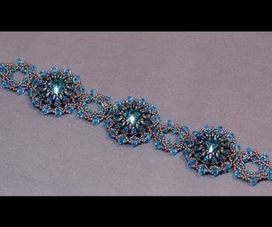 Beaded Bracelet - Handmade Bracelet With Swarovski Crystals and Miyuki Seed Beads