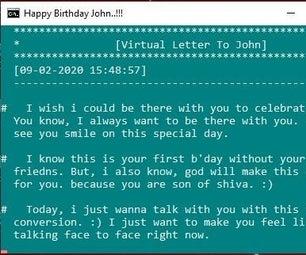 Virtual Letter Batch File