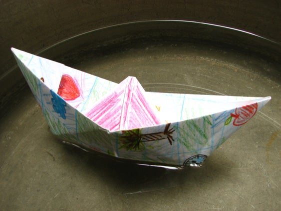 Floating Boat With Origami