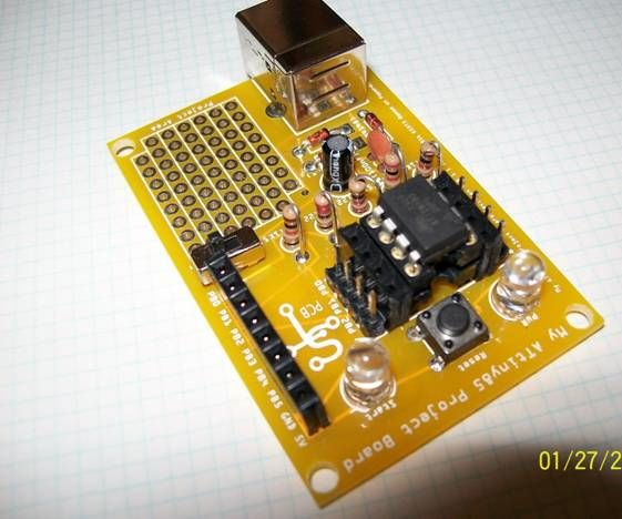ATtiny V-USB Project Board