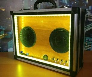 带灯光表演的音乐盒