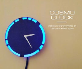 Cosmo Clock - Changes Color Everytime an Astronaut Enters Space