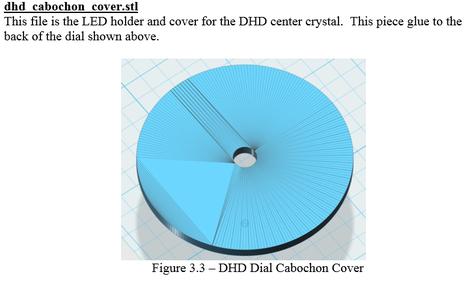 3D Printing - Cabochon/LED Holder