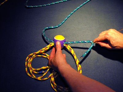 Use Wire to Feed Additional Ropes Thru Tennis Ball