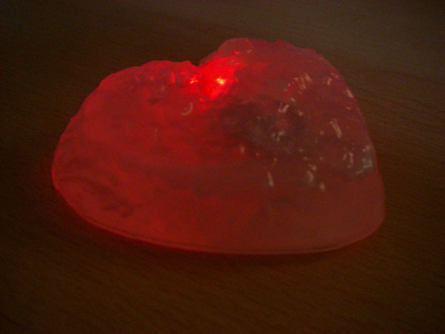 Beating soapy love heart