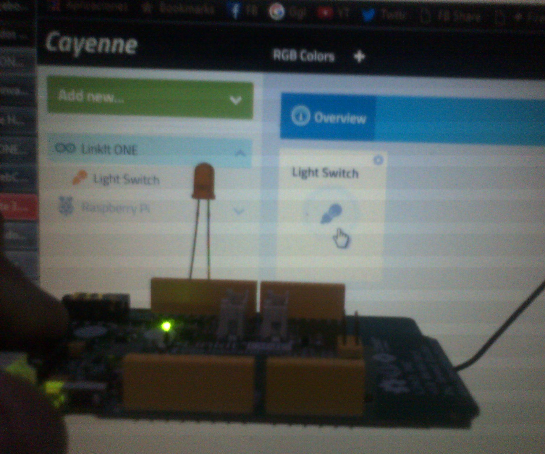 Connecting LinkIt ONE to Cayenne