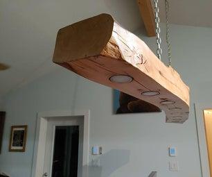 Solid Wood Suspended Lightbar