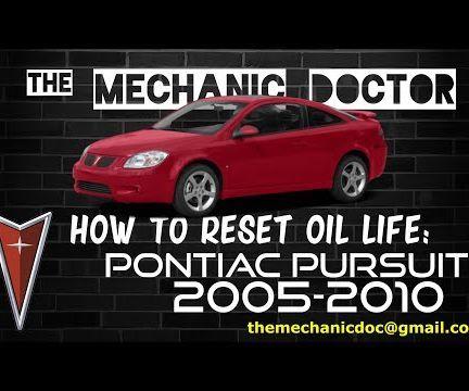 How to Reset Oil Life: Pontiac Pursuit 2005-2010