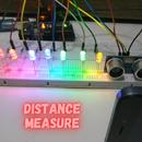 Arduino Ultrasonic Sensor HC-sr04 Led + Distance Measure Projects.