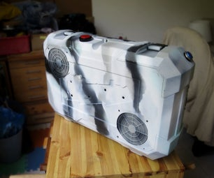手提游戏电脑在一个手提箱