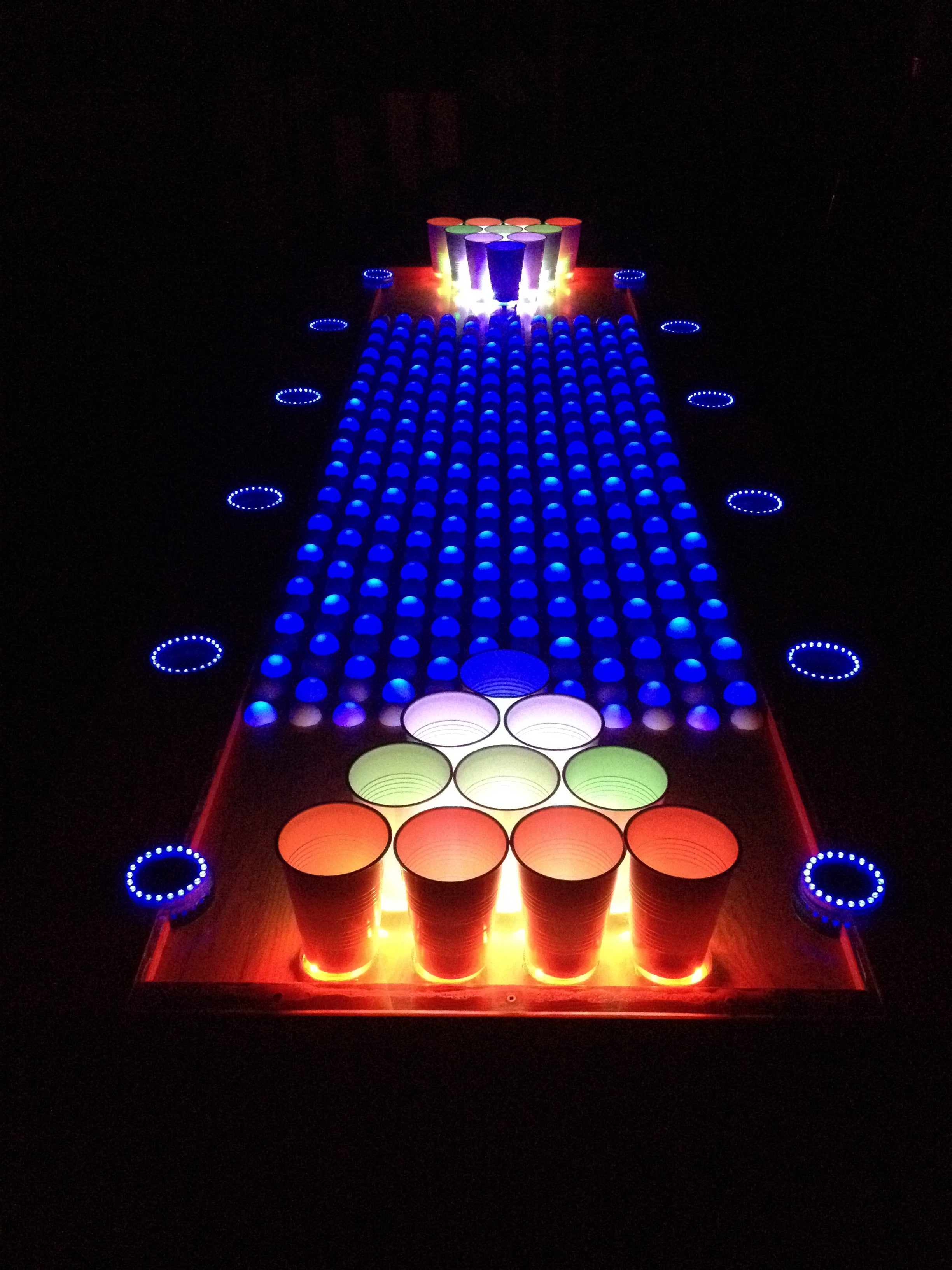 Interactive Led Beer Pong Table 88 Steps With Pictures Instructables