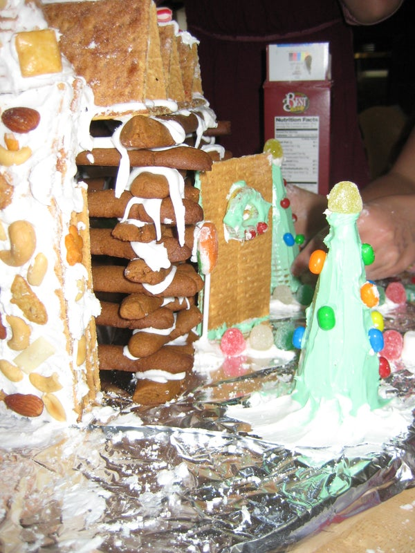 Cozy Gingerbread Log Cabin