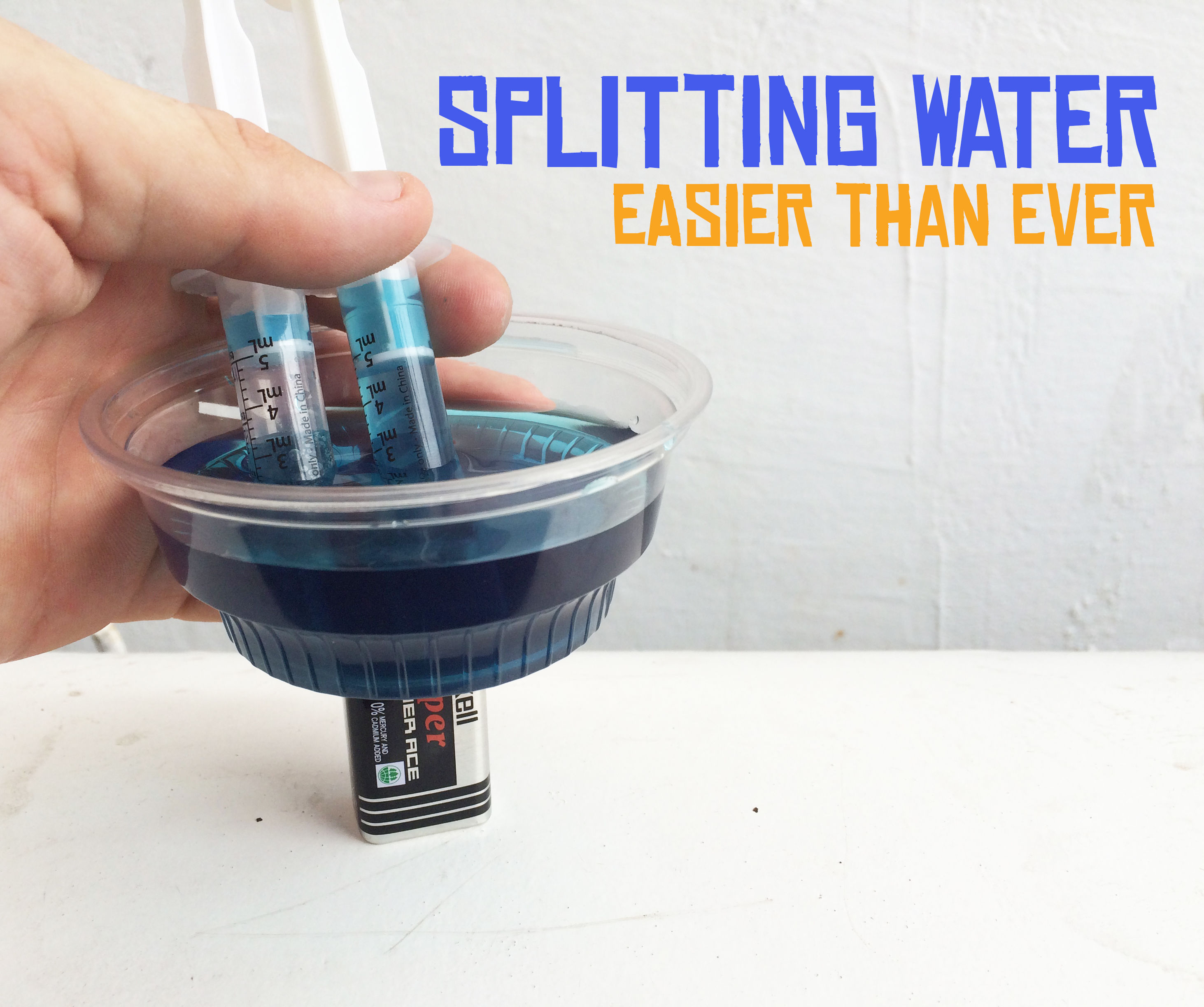 Splitting Water the Easy Way