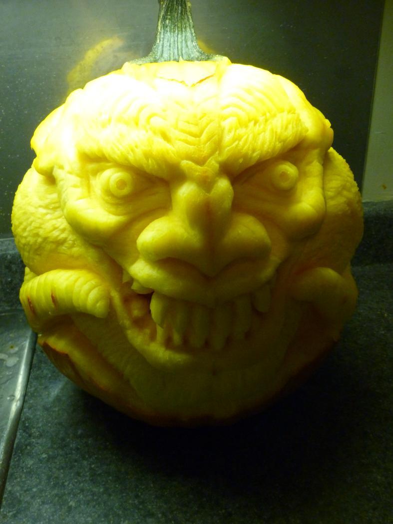 Carved Pumpkin Demon