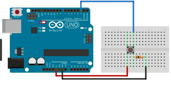 Connect the Button's Circuit (接按鈕的電路)