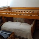 Wall Fold Bed From Reused Timber.