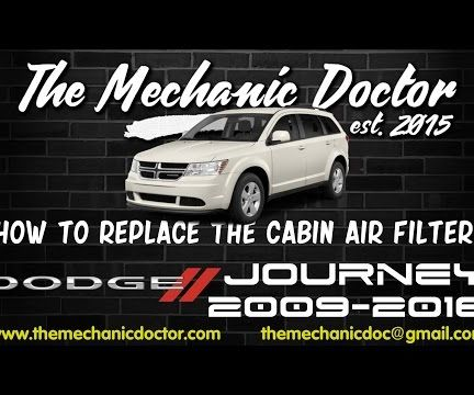 How to Replace the Cabin Air Filter : Dodge Journey 2009-2016
