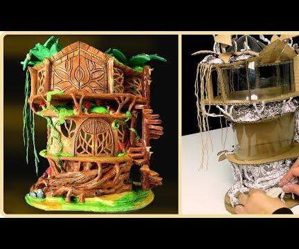 DIY Fairy Tree House Using Recycling TRASH