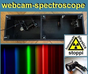 用于发射和吸收光谱的自制网络摄像头光谱仪
