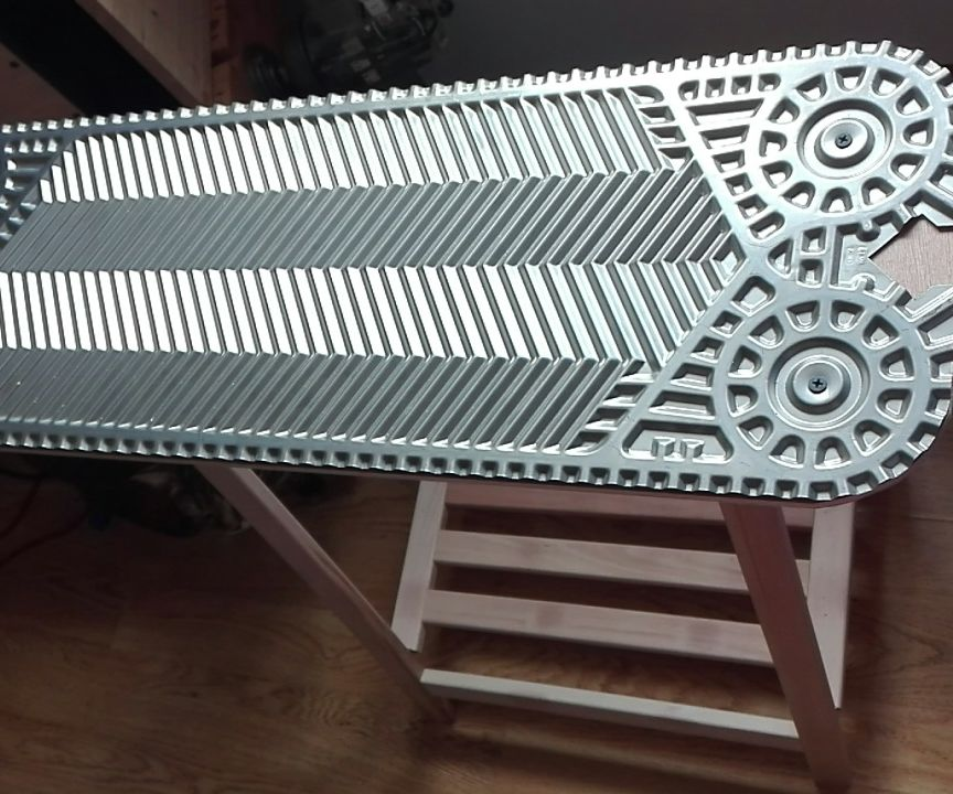Industrial Bed End Table