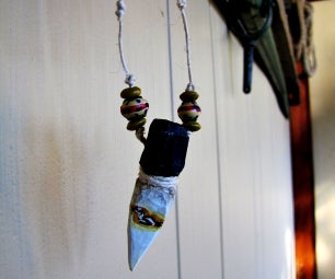 Wooden Native American Style Pendant