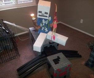 Minecraft Spider Jockey Children's Costume With Moving Legs and Head