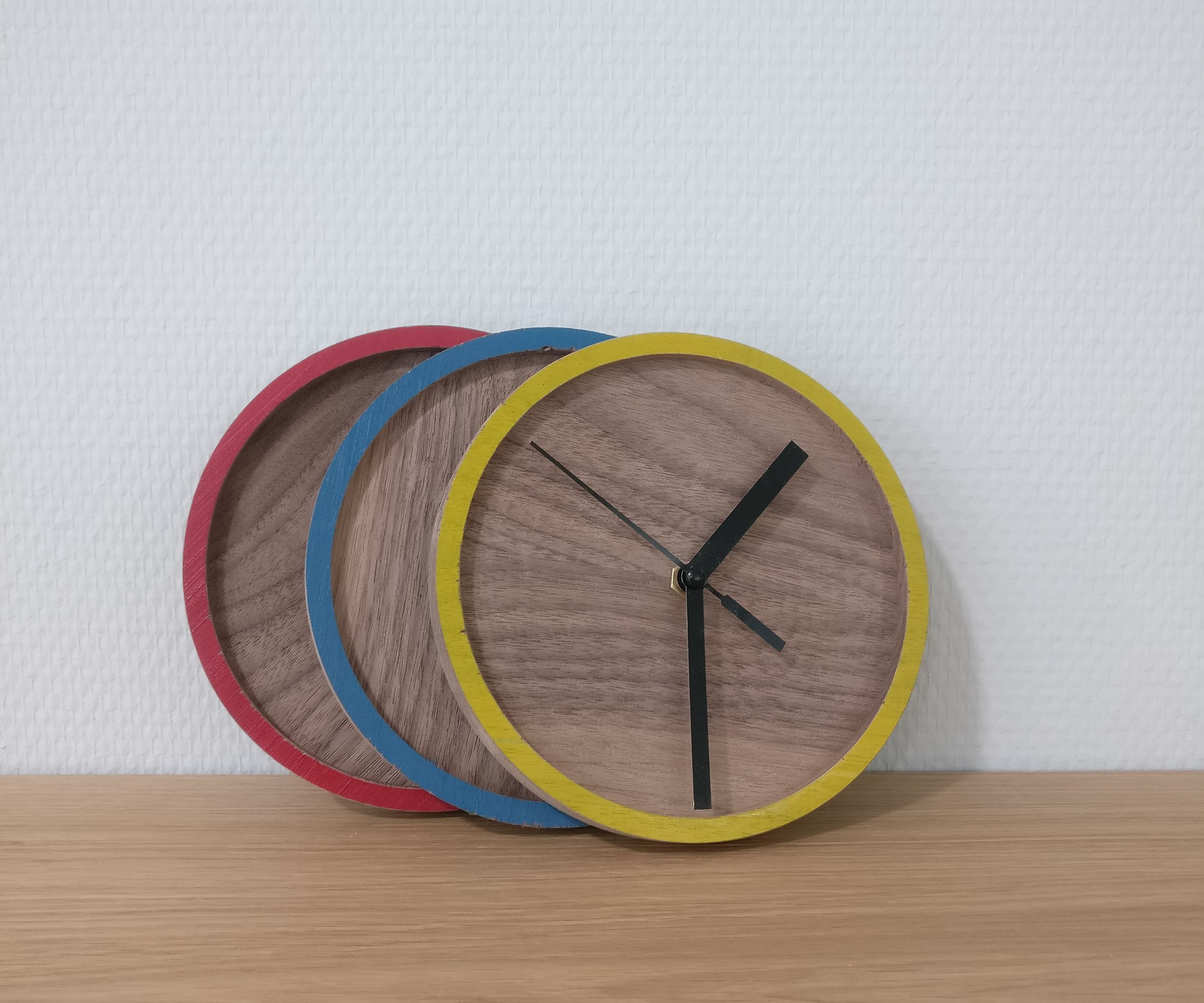 Colorful Mini Clock With CNC
