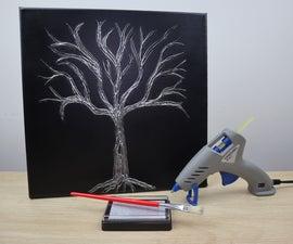 Easy Hot Glue Tree Canvas