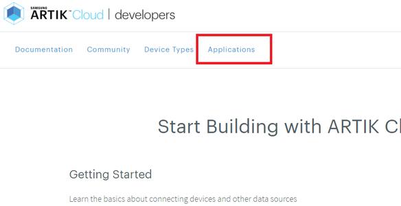 Create an Application to Artik Cloud