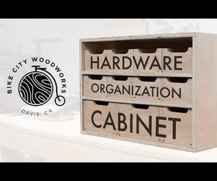 Hardware Organizer Cabinet Made With Box Joints