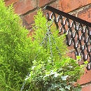 CAST IRON HANGING BASKET BRACKETS FROM OLD SEWING MACHINE TREADLE