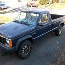 jeep comanche spare tire carrier repair