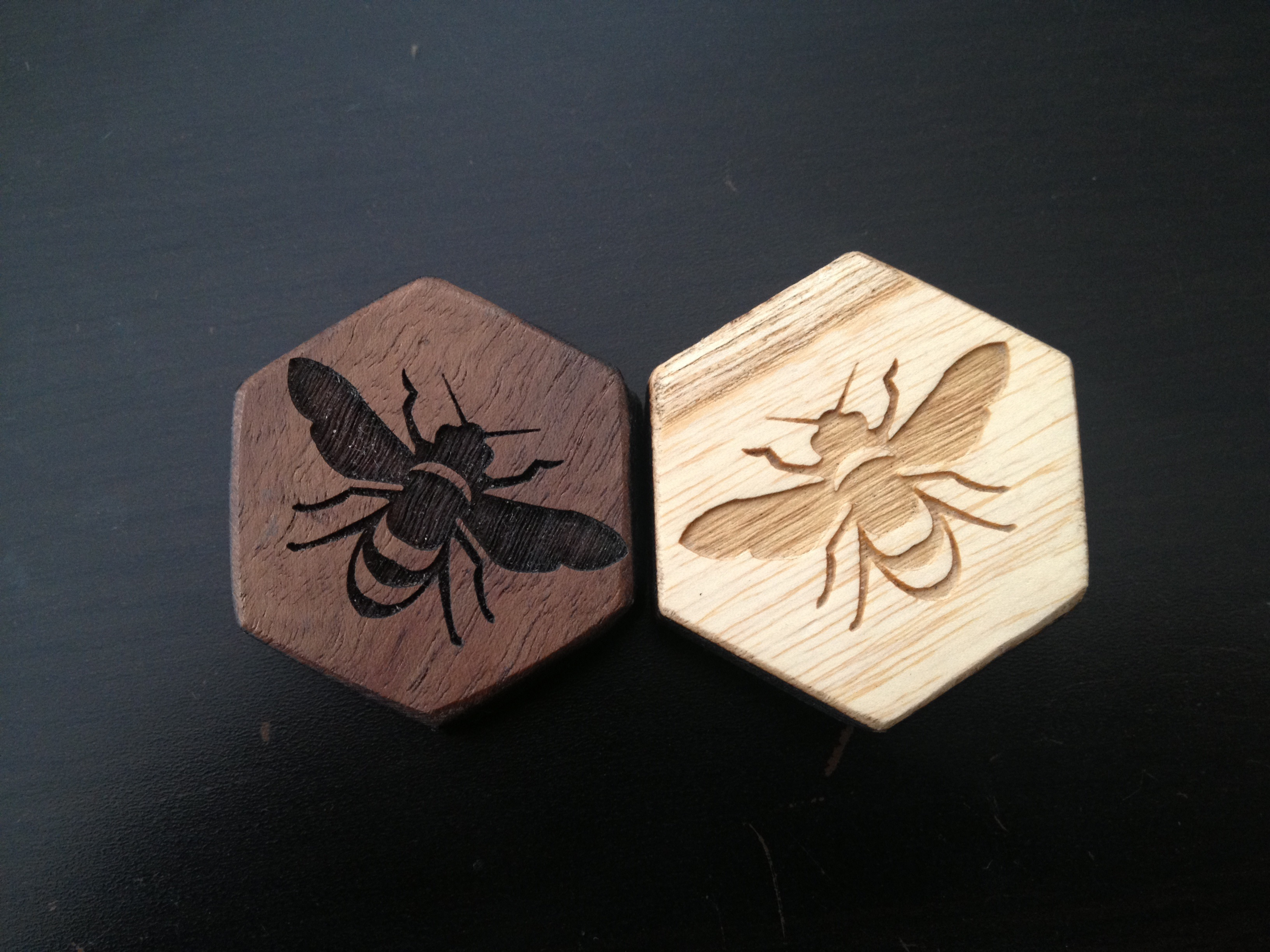 Custom wood and metal Hive set (boardgame)
