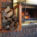 Indoor Firewood Rack Made Using Raw Firewood