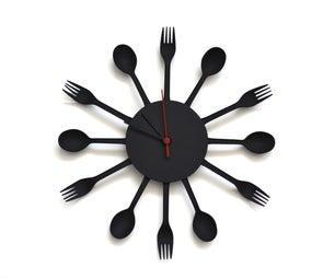 Disposable Flatware Clock by Samuel Bernier