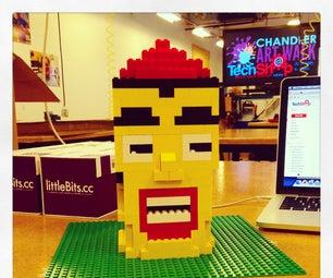 LittleBits + Lego Animated Head