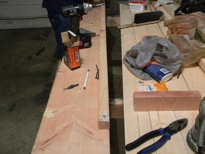 "Cut 2"" X 2"" X 8' Douglas Fir Boards"