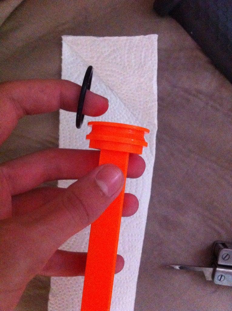 Remove the Rubber O Ring