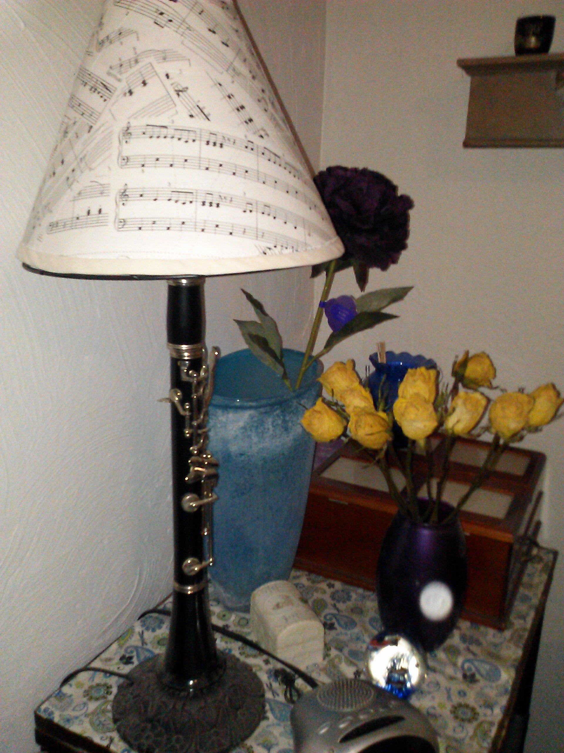 Sheet Music Lampshade