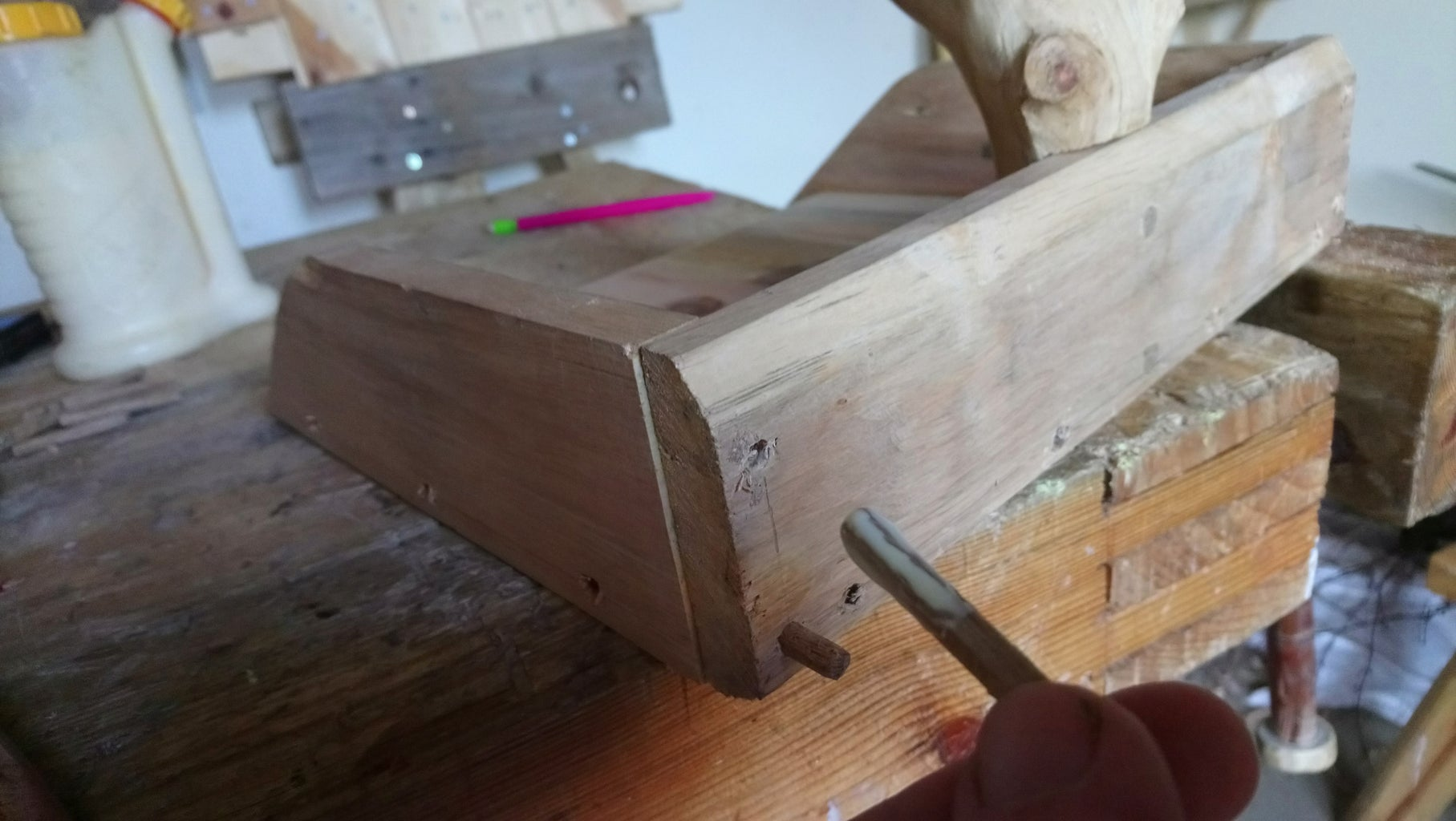 Inserting Dowels and Finishing the Dustpan
